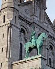 Statue on Paris's Sacré-Coeur