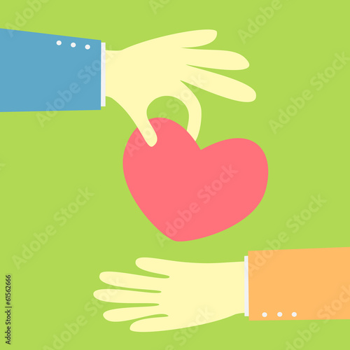 giving a heart