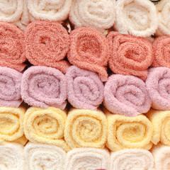 colorful towels pattern