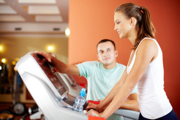 Fitness with instructor