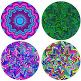 Set colorful round patterns
