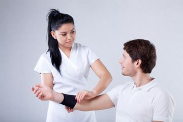 Sick elbow rehabilitation