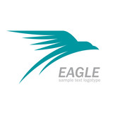 Vector Logo eagle in flight