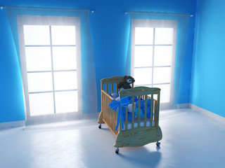 Bedroom for baby boy