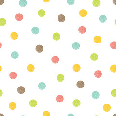 Polka dot. Cute seamless pattern.