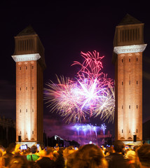firework at closing  of La Merce Festival