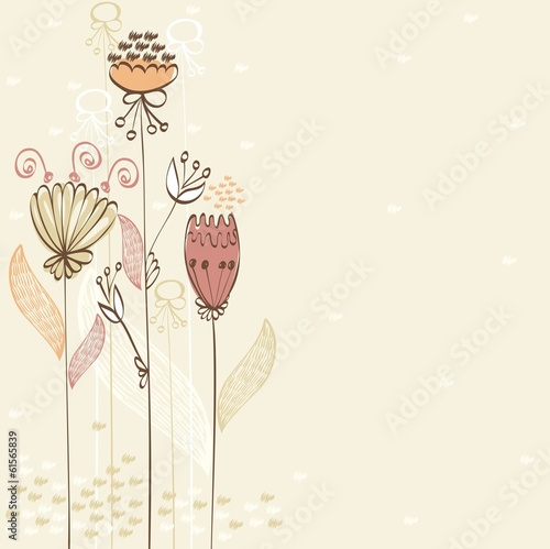 Flowers fantasy. Cute floral  background for your text.