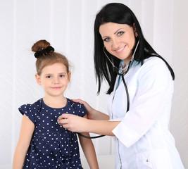 Little girl at doctor