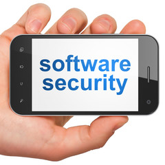 Security concept: Software Security on smartphone