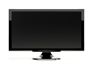 Blank computer monitor. Isolated on white
