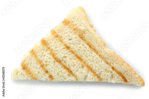 Grilled toast bread, isolated on white