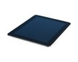 modern black tablet pc isolated on white background