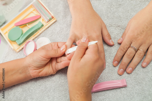 Spa salon. Japanese manicure. - 61568664