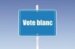 panneau vote blanc