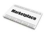 Marketing concept: newspaper headline Marketplace