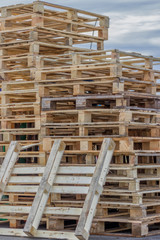 Stacks of Wood Pallet Ready For Reuse 3