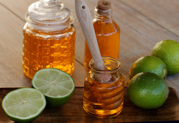 Limetten mit Honig