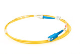 blue fiber optic SC connector patchcord