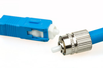blue fiber optic SC connector and FC type connector