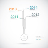 Outline infographics timeline innovation vector