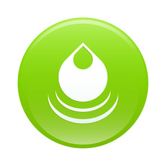 bouton internet drop water green web