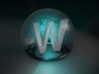 3D Glaskugel W