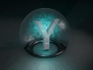 3D Glaskugel Y