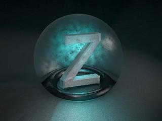3D Glaskugel Z