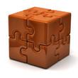Orange puzzle cube