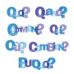 """""""QUESTIONS"""" (FAQ pourquoi comment combien qui où quoi quand)"""