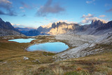 Mountain with lake - Italy Alps Dolomites - Tre Cime - Lago