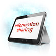 Information concept: Information Sharing on tablet pc computer