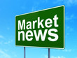 News concept: Market News on road sign background