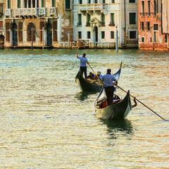 Venice, Italy, Grand Canal and gondolas