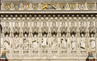 London Westminster Abbey Detail View Of Statues
