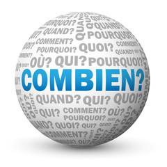 "Globe ""COMBIEN?"" (questions quantité prix tarifs réponses faq)"