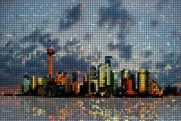 skyline shanghai - mosaic