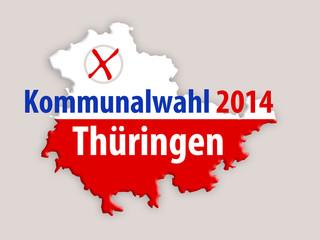 Kommunlawahl 2014 Thüringen