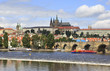 Prague Castle and  river Vltava.