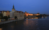Night landscape of the historical center of Prague.