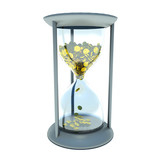 hourglass with golden coins