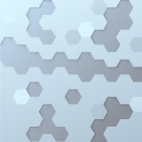 Hexagon tile background template