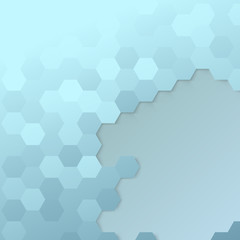 Hexagon cell template - modern background