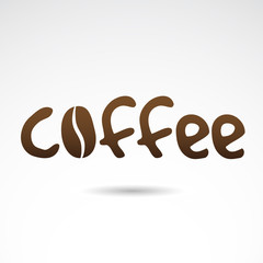 Coffee creative sign. VECTOR illustration.