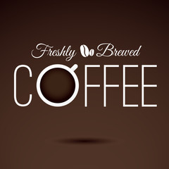 Coffee sign. VECTOR illustration.