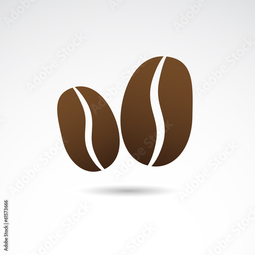 Coffee bean icon. VECTOR illustration.