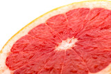 grapefruit slice  on white angle view .
