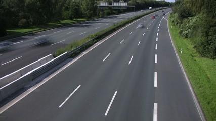 Autobahn Zeitraffer
