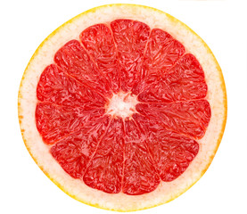 full grapefruit slice  on white