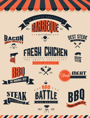BBQ Grill elements and labels